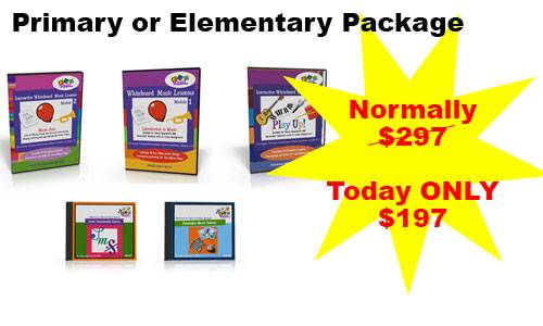 Package for Primary or Elementary music Lessons