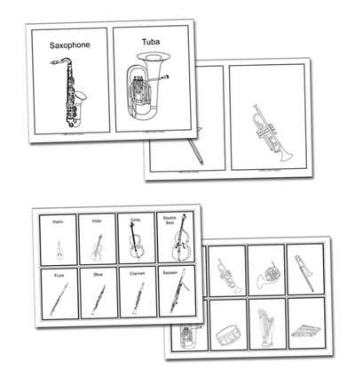 flashcards included with these lesson plans