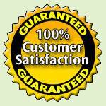 customer satisfaction is 100% guaranteed