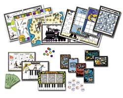 Just some of the games in printable music games