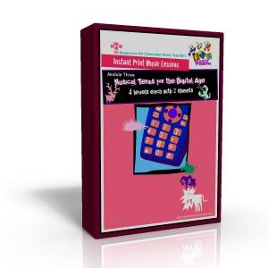 Instant Print Music Lessons Module Three - Musical Terms for the digital age