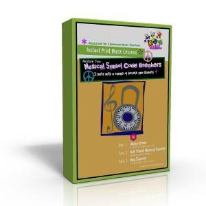 Instant Print Music Lessons Module Two - Musical Symbol Code Breakers