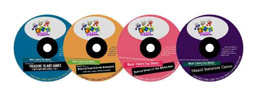 Music Theory Fun Sheets CD-PACK