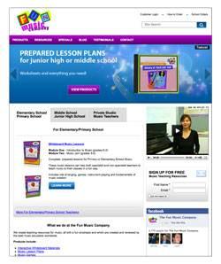 New Fun Music Company Homepage design