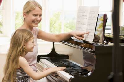 music theory in a private piano lesson