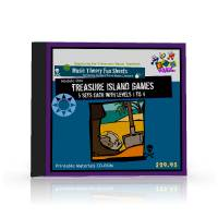 Instant Print Music Lessons Module One - Treasure Island Games