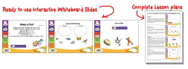 interactive whiteboard program with theory book